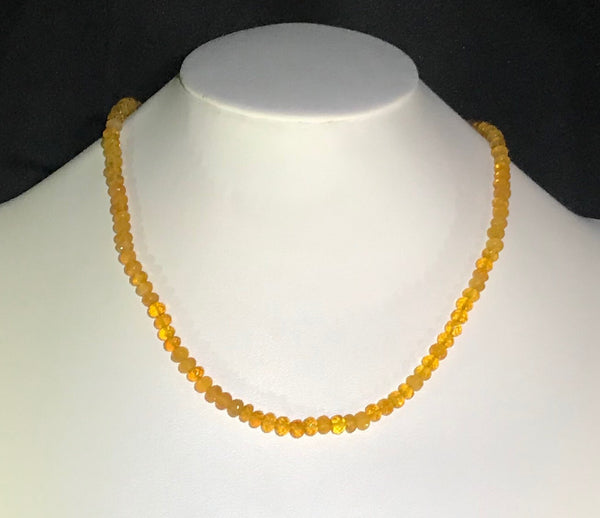 73 Carat Yellow Oregon Fire Opal Bead Strand