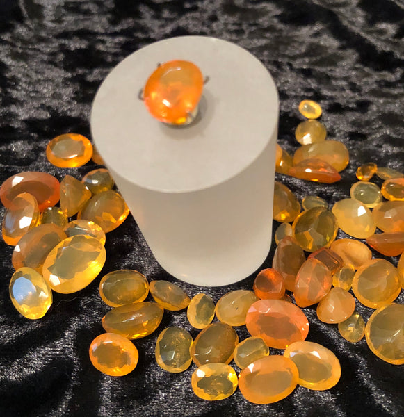 3.4 Carat Faceted Orange Oregon Fire Opal