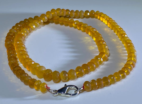 81 Carat Orange Oregon Fire Opal Bead Strand