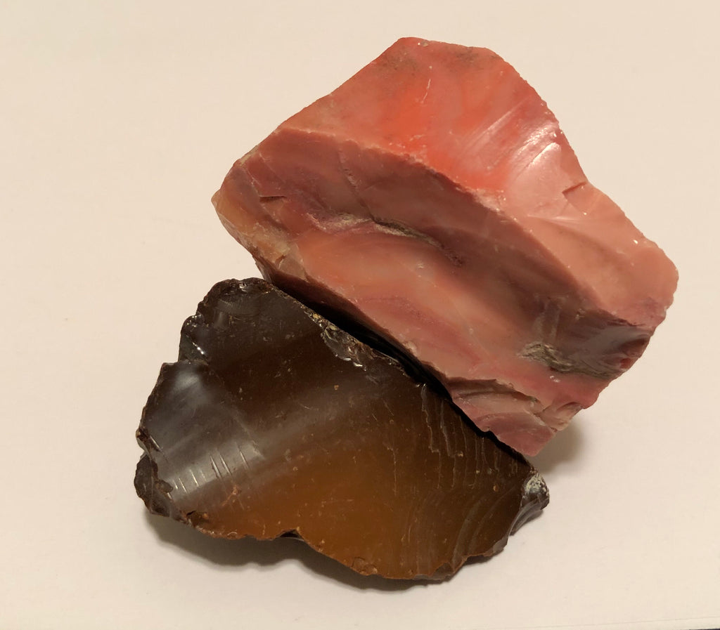 151 Grams of Oregon Pink & Chocolate Opal Rough