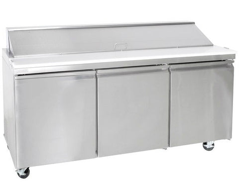 "72"" Three Door Sandwich/Salad Prep Table SML-S72-18"