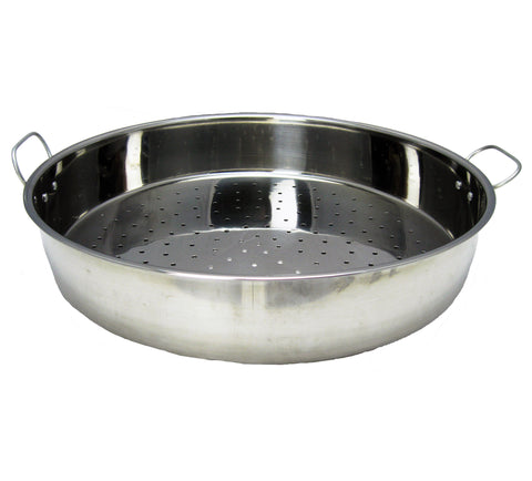Perforrated Stainless Steel Pan w/Handles - 鋼有孔飯盆