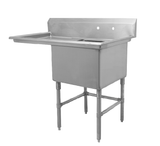 "18"" Single Sink with Left Drain Board SM-S1818-L"