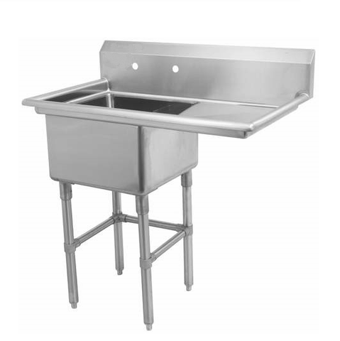 "18"" Single Sink with Right Drain Board SM-S1818-R"