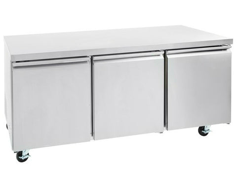 "72"" Three Door Undercounter Refrigerator SML-UC72R"