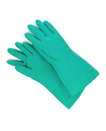 Green Rubber Gloves 400-P