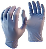 Ice Blue Disposable Gloves 2222PF