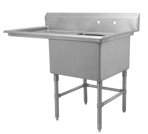 "24"" Single Sink with Left Drain Board SM-S2424-L"