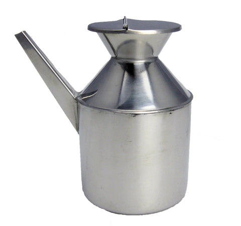 Stainless Steel Oil Container - Square Spout