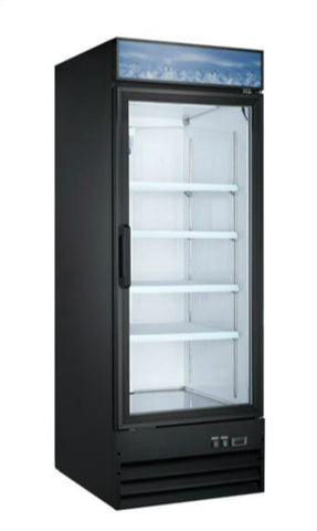 "31"" Upright Single Glass Door Freezer SML-GD31F-BLK"
