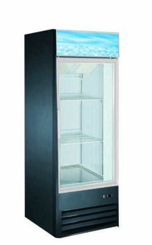 "26"" Upright Single Glass Door Freezer SML-GD26F-BLK"