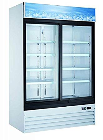 "54"" Double Sliding Door Display Refrigerator SML-GD45-W"