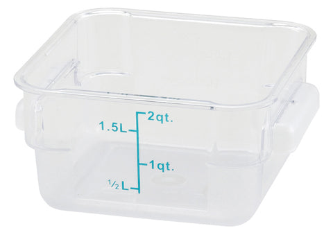Square Storage Container, Clear Polycarbonate