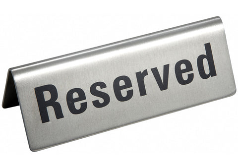 Stainless Steel Reserved Sign RVS-4