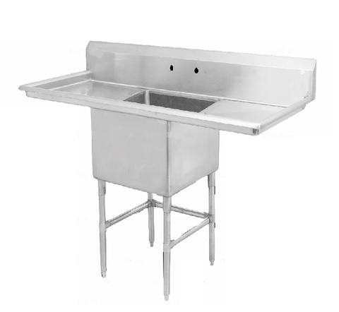 "18"" Single Sink with Two Drain Board SM-S1818-LR"