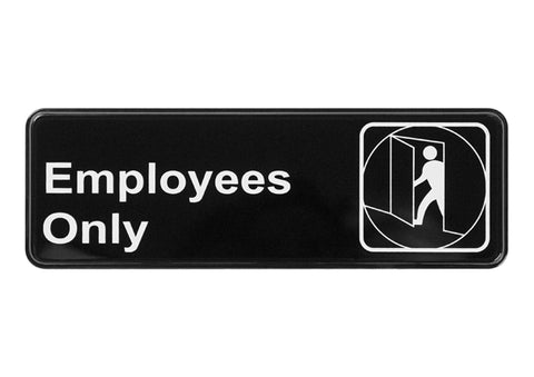 """Employees Only"" Sign SGN-310"