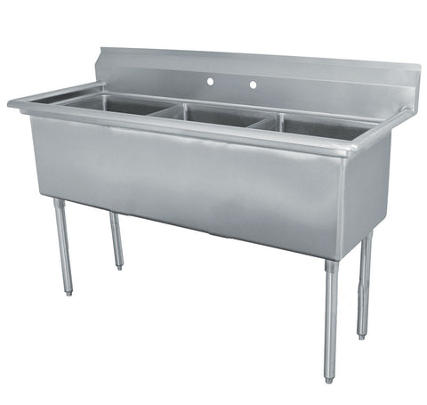 "Triple Sink with 16"" x 20"" Bowl SM-T1620"