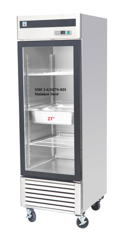 "27"" Single Glass Door Refrigerator SMC1-GD27S-RH"