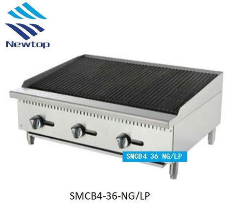 "36"" Char Rock Broiler SMCB4-36-NG/LP"