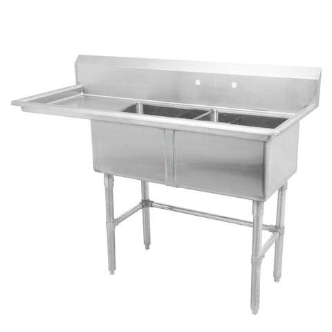 "18"" Double Sink with Left Drain Board SM-D1818-L"