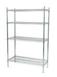Chrome Finish Wireshelf Unit