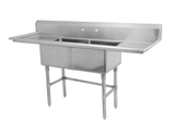 "18"" Double Sink with Two Drain Board SM-D1818-LR"