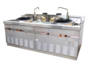 Open Kitchen Type Environmental Cooking Range - Guangdong Style