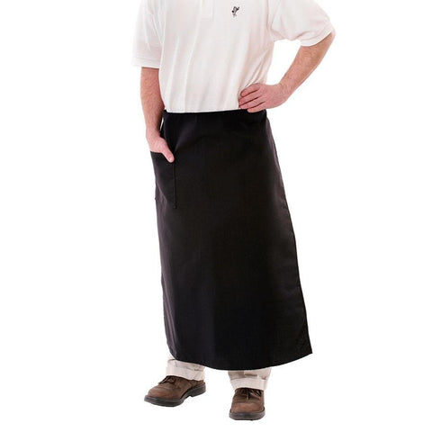 Full Length Black Apron AP2436