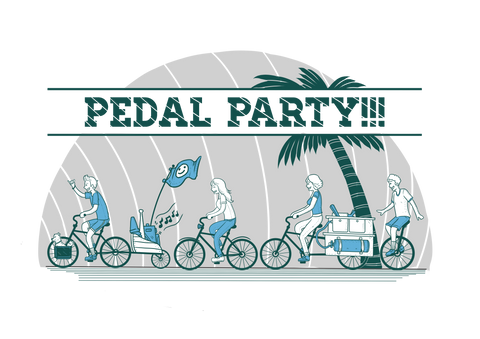 Pedal Party! Bike Culture T-shirt