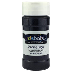Sanding Sugar Black - 4oz Celebakes