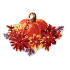 Pumpkin with Flowers Pop Top