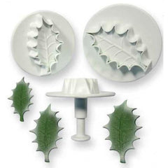Holly Leaf Plunger Set of 2