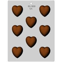 Deep Heart Candy Mold - 1.75""