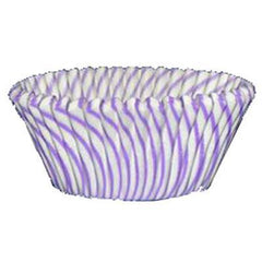 Baking Cups  - Purple Striped - 50ct