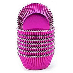 Baking Cups - Mini Fuchsia Foil Appr. 25ct