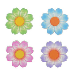 Daisies Assortment - 12 ct - Printed Edible Decorations