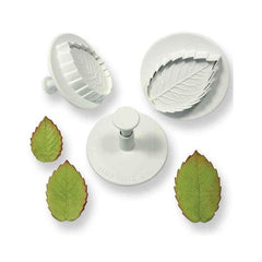 Rose Leaf Plunger Large set of 3