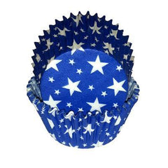 Baking Cups  - Blue with White Stars - Appr. 50 in Package.