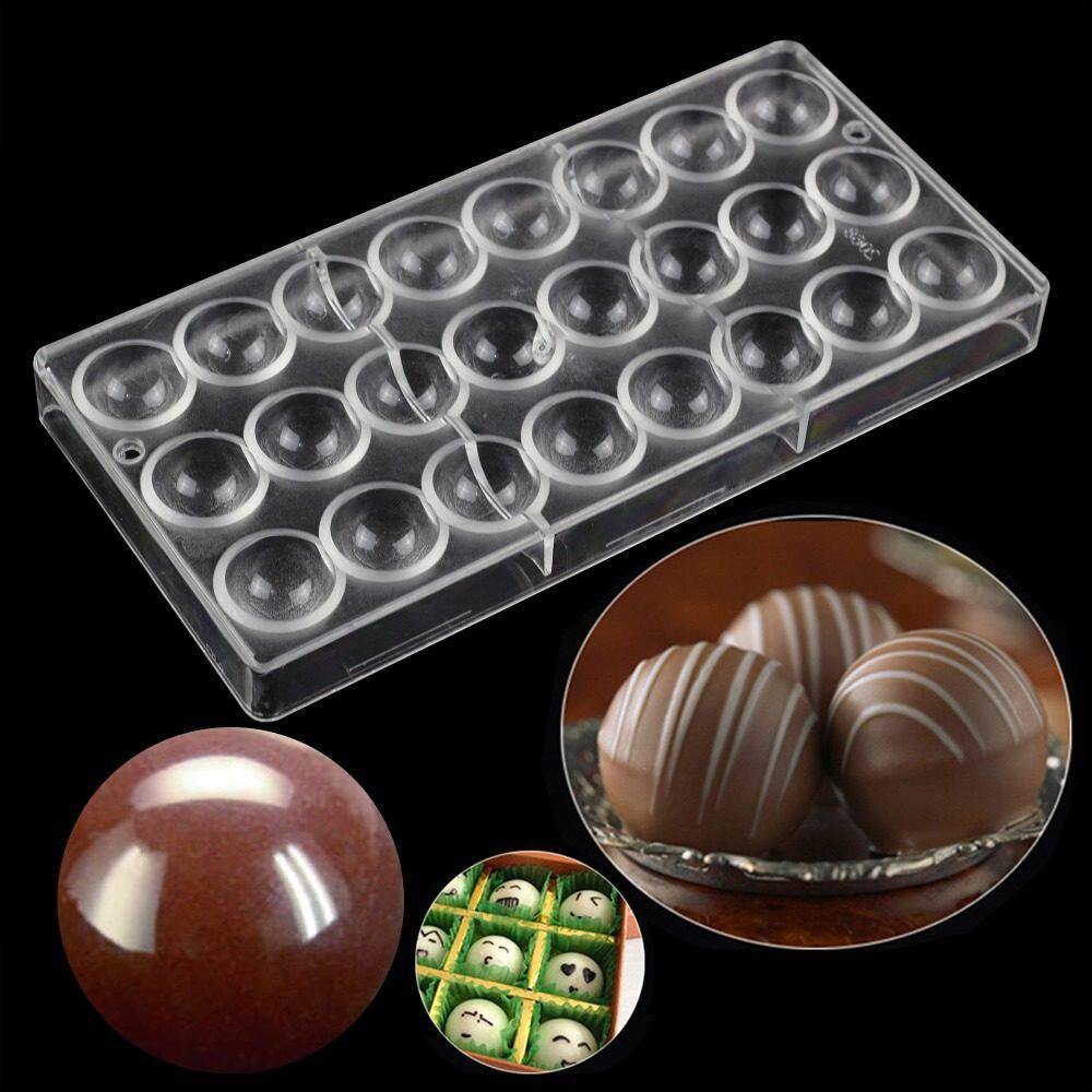 Ball Polycarbonate Chocolate Mold - 32pc