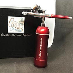 Airbrush Kit by CCS - Red Portable