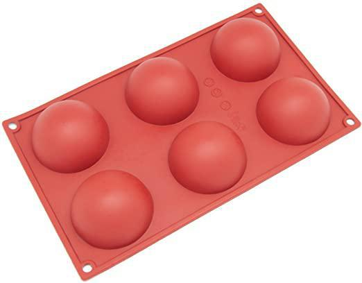 Hemisphere Silicone Baking Mold - 2.7oz - 6 Cavity