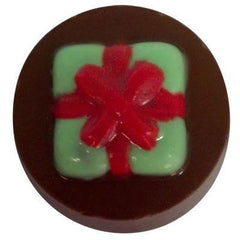 Cookie Present Bow Round Candy Mold