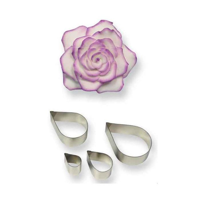 Rose Petal Cutter set of 4 individual cutters- PME