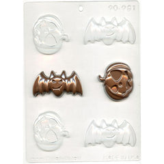 Bats & Pumpkins Chocolate Mold
