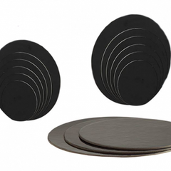 "Cake Circle - 10"" Black Die Cut"