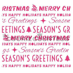 Christmas Word Wrapping Stencil