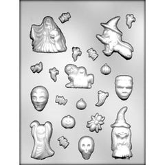 Halloween Assortment - Witches, Ghosts Bats & More Chocolate Mold