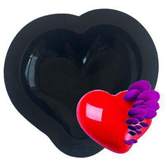 Curved Heart Silicone Baking & Freezing Chocolate Mold - 6""