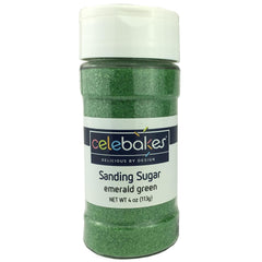 Sanding Sugar Emerald Green - 4oz