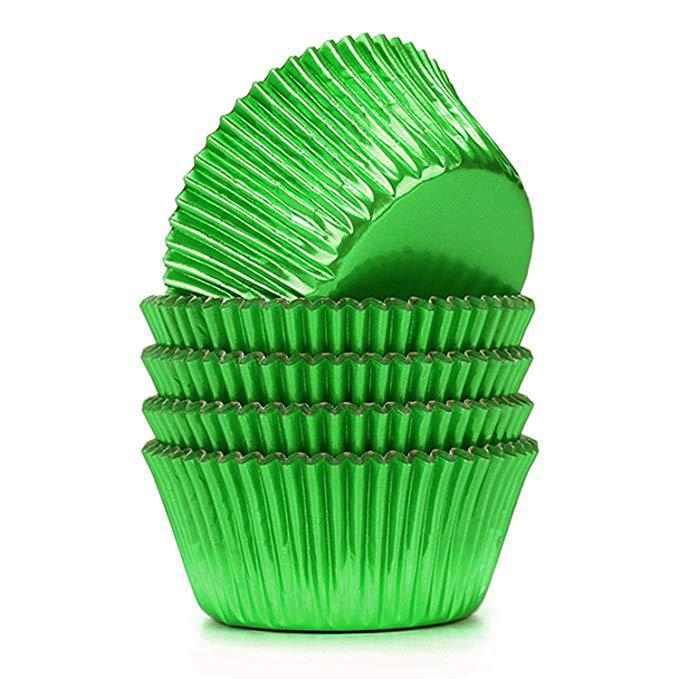 Baking Cups - Green Foil - Appr. 50ct